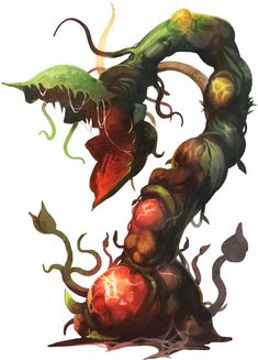 Strange New World: Random Alien Plant Generator - Wargaming Crafts - Plants Alien Creatures, Fantasy Creatures, Mythical Creatures, Creature Concept Art, Creature Design, Plant Monster, Alien Plants, Plante Carnivore, Alien Concept
