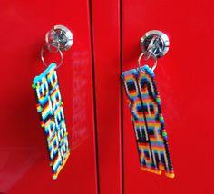 DIY hama keychain #pressstart & #gameover