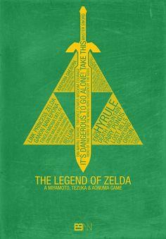 The Legend of Zelda Typography