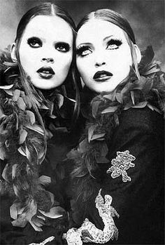 Kate Moss and Nadja Auermann photographed by Steven Meisel for Dolce and Gabbana.......