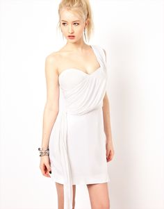 Religion One Shoulder Jersey Dress