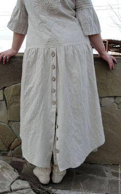 Sewing Clothes, Diy Clothes, Clothes For Women, Boho Fashion, Fashion Dresses, Womens Fashion, Linen Dresses, Casual Dresses, Mode Cool