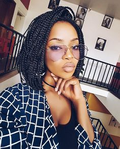 Box braids are not just great at introducing freshness to your looks, they also give you room to experiment with different packages. Medium box braids are