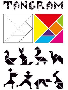 Learning Through Play, Kids Learning, Brain Memory Games, Tangram Printable, Tangram Puzzles, Kids Education, Math Lessons, School Projects, Preschool Activities