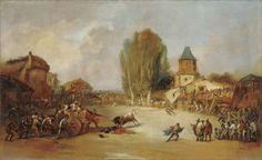 Cogida en una capea de pueblo- Eugenio Lucas Velázquez (1817–1870)- Museo Carmen Thyssen Málaga