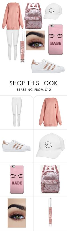 """""""No name"""" by martialartsqueen ❤ liked on Polyvore featuring River Island, Acne Studios, adidas Originals and Victoria's Secret"""