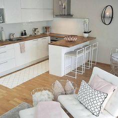 Likes, 60 Comments - Home decor Modern Interior, Interior Design, Location Villa, Small Apartment Decorating, Home Decor Kitchen, Small Apartments, Decorating Tips, Modern Design, New Homes