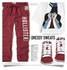 """Comfort is Key: Sweatpants"" by dolly-valkyrie ❤ liked on Polyvore featuring Hollister Co., Vans and sweatpants"