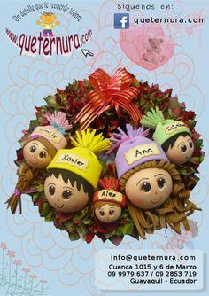Corona Navideña Familiar Origami, Projects To Try, Christmas Ornaments, Holiday Decor, Ideas, Holiday Wreaths, Knots, Stitches, Jelly Beans