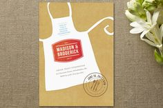 Click Image Above To Purchase: Calling All Chefs Bridal Shower Invitations