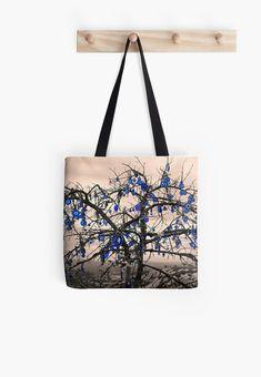 'Protected from all evil eyes (Wish Tree)' Tote Bag by Hercules Milas Large Bags, Small Bags, Cappadocia, Hard Wear, Tree Designs, Medium Bags, Hercules, Shutter Speed, Evil Eye