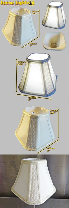 Lampshades Available Cream Calico Coloured Clip On Light Shade Rustic