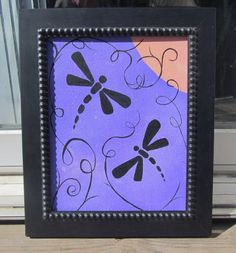 DRAGONFLIES  Original Acrylic Painting by by artbycathyhenderson, $20.00 Canadian Artists, Dragonflies, Creative Ideas, Original Artwork, Hobbies, The Originals, Unique Jewelry, Handmade Gifts, Frame