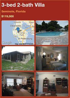 3-bed 2-bath Villa in Seminole, Florida ►$119,000 #PropertyForSale #RealEstate #Florida http://florida-magic.com/properties/6242-villa-for-sale-in-seminole-florida-with-3-bedroom-2-bathroom