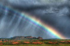 sunshine + rain = rainbows