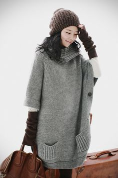 comfy and cozy knit tunic- this would make me look like a whale but it looks super cozy and cute!