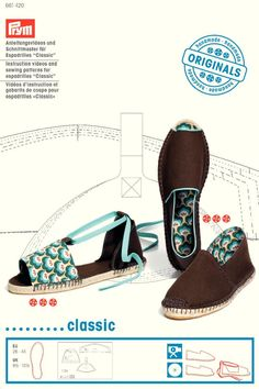 """Instruction videos and sewing patterns for espadrilles """"Classic"""""""