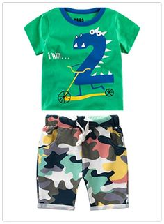 Amazon.com: FTSUCQ Boys Cartoon Numbers Short Sleeve Shirt Top with Camo Shorts, Two-pieces Sets: Clothing Cool Shirts For Boys, Funny Kids Shirts, Cool Kids Clothes, Boys T Shirts, Junior Outfits, Toddler Outfits, Boy Outfits, Junior Clothing Stores, Kids Nightwear