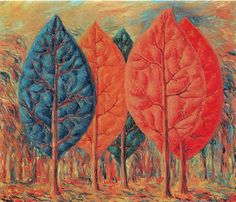 The fire, 1943, Rene Magritte