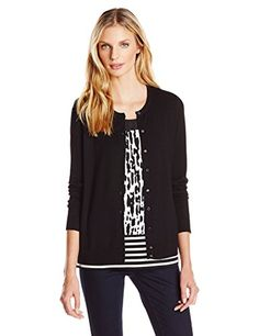 Calvin Klein Women's Solid Button-Front Cardigan - http://www.darrenblogs.com/2017/03/calvin-klein-womens-solid-button-front-cardigan/