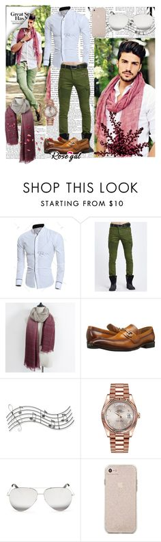 """FOR MEN #40"" by infinity-em ❤ liked on Polyvore featuring Carrucci, Music Notes, Rolex and Victoria Beckham"