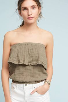 Michael Stars Blouson Strapless Top