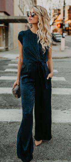 A velvet jumpsuit that'll help you gear up for spring