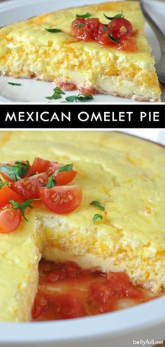 Omelet Pie This Mexican Omelet Pie is a tender and thick omelet with a fiesta of flavor! Great for breakfast, brunch, or dinner!This Mexican Omelet Pie is a tender and thick omelet with a fiesta of flavor! Great for breakfast, brunch, or dinner! Mexican Breakfast Recipes, Brunch Recipes, Gourmet Recipes, Mexican Food Recipes, Cooking Recipes, Mexican Brunch, Asian Recipes, Mexican Meals, Breakfast