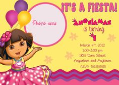 Dora the explorer birthday invitation islas 3rd birthday 3 dora the explorer birthday invitation filmwisefo