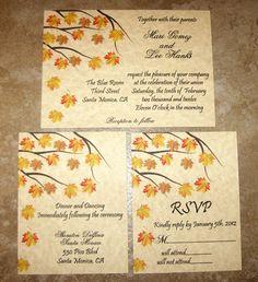 Fall Wedding Invitations Set