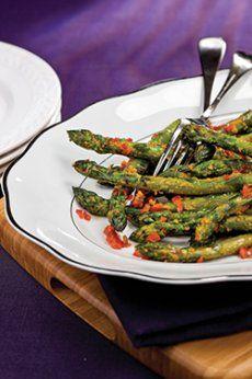 Asperges croquantes au basilic Avril, Calories, Asparagus, Green Beans, Vegetables, Food, Home, Drinks, Meal