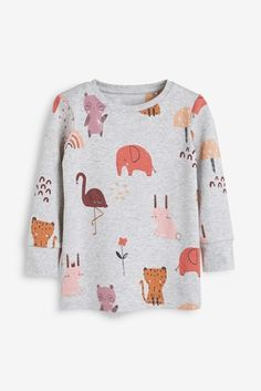 Rust/Pink 3 Pack Animal Snuggle Pyjamas (9mths-8yrs)