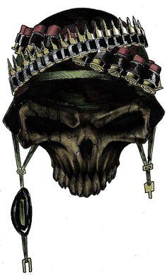war skull by ~yacobucci on deviantARTArt Work, Wars Skull, Marine Skull Tattoo, Skull Pictures, Cool Pictures, Skull Tattoos, Body Art Tattoos, Tattoo Caveira, Grim Reaper Tattoo, Totenkopf Tattoos, Military Tattoos, Skull Artwork