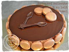 Entremet noisette chocolat au lait caramel