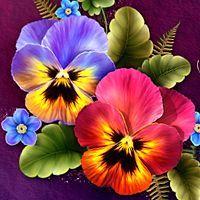 Moonbeams Fanciful Pansy 3d Models Moonbeam1212 Pansies Flowers Flower Painting Flower Art
