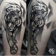 ... Tattoos on Pinterest | Tiger tattoo Elbow tattoos and Couple tattoos
