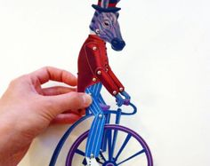 DIY Circus Elephant & Lady Printable PDF Paper by ArtistInLALALand