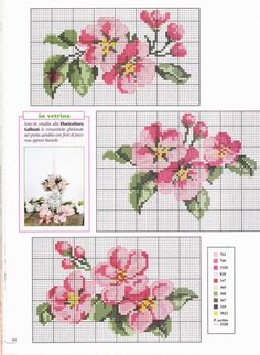*flowers --- cross-stitch* Would be pretty as a frame Cross Stitch Books, Cross Stitch Heart, Cross Stitch Cards, Cross Stitch Borders, Cross Stitch Flowers, Cross Stitch Designs, Cross Stitching, Cross Stitch Embroidery, Cross Stitch Patterns