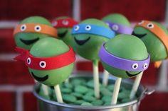 Ninja Turtle Cake Pops - 8 #Birthday Party Cake Pops for Boys