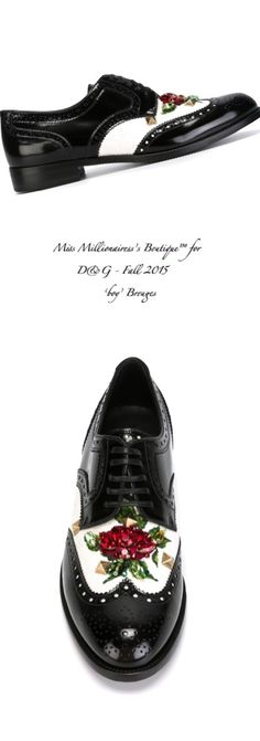 D&G Fall 2015 'boy' Brogues - Miss Millionairess's Boutique™