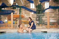 Take a break from the action for a soak in the 18 and up hot tub, North Hot Springs, at Great Wolf Lodge.