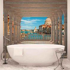 Venice Columns - Forwall - Fototapete - Tapete - Fotomural - Mural Wandbild - (1358WM) - XL - 254cm x 184cm - Papier ... Columns, Venice, Windows, Pictures, Eco Friendly Products, Modern Patterns, Photo Wallpaper, Wall Prints, Wallpapers