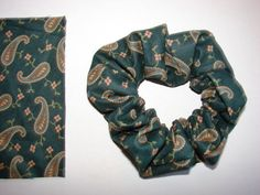 Very pretty Hunter Green Paisley Fabric Hair by coloradocntry