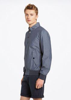 MARC O'POLO, Men, Clothing, Jackets / Coats, Harrington bomber jacket, in pure…