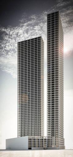Emilio Tuñón . Torres de viviendas . Dubai                              …