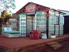 Making homes and furniture made from plastic bottles : )