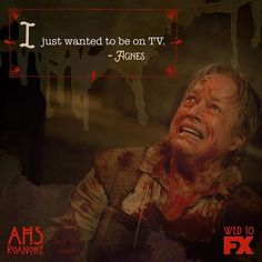Anything for a killer role. #AHSRoanoke