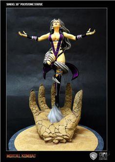 Estatua Mortal Kombat. Sindel, 39cms  Espectacular estatua de 39 cms perteneciente al popular videojuego Mortal Kombat, con el personaje Sindel la Reina de Edenia que posee la capacidad de hacer magia.