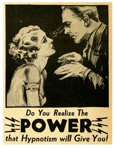 Vintage hypnosis advertisement