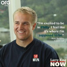 Matt Barkley couldn't be happier with how his NFL career has started #LarryKingNow